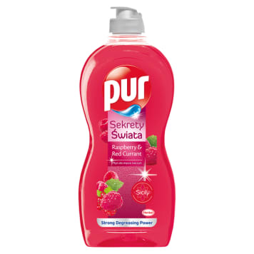PUR Sekrety Świata Dishwashing liquid Malina and Red currant 450ml
