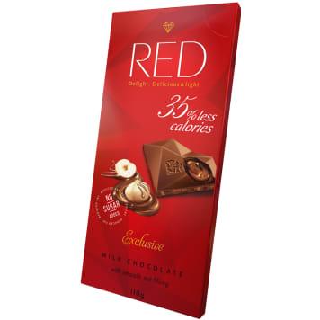 RED Czekolada mleczna orzechowa o obniżonej zaw. kalorii -35% 110g