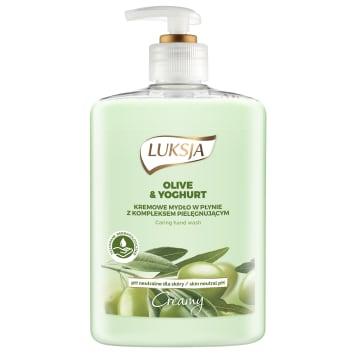 Mydło w płynie Olive & Yoghurt LUKSJA CREAMY 500ml - doskonała pielęgnacja i nawilżenie dla skóry.