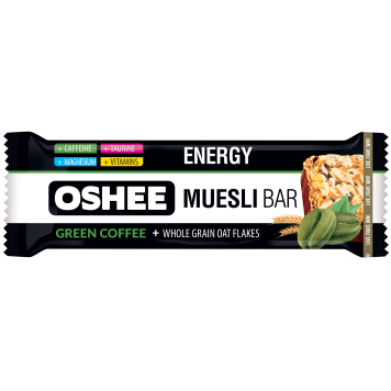 OSHEE Energy Muesli bar with nuts and raisins with a coffee flavor 40g
