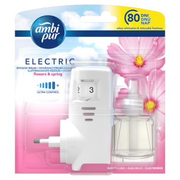 AMBI PUR ELECTRIC Electric air freshener and refill Pur Flowers & Spring 1pc