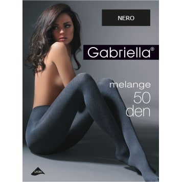 GABRIELLA Tights Melange 50 Den, size 2, colour Nero 1pc