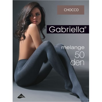GABRIELLA Tights Melange 50, size 2, colour Chocco 1pc