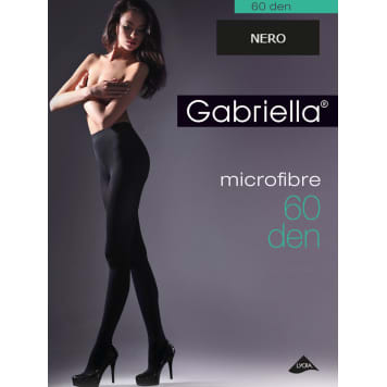 GABRIELLA Tights Microfibre 60 Den, size 4, colour Nero 1pc