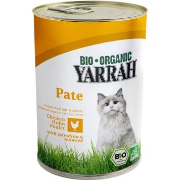 YARRAH Pokarm dla kota z pasztetem z kurczaka ze spiruliną i algami BIO 400g