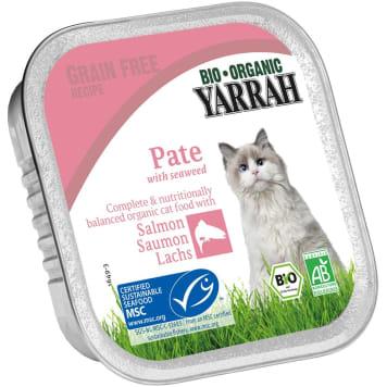 YARRAH Pokarm dla kota z pasztetem z łososia i algami BIO 100g