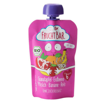 FRUCHTBAR Strawberry mousse, pomegranate, peach, banana 100 g
