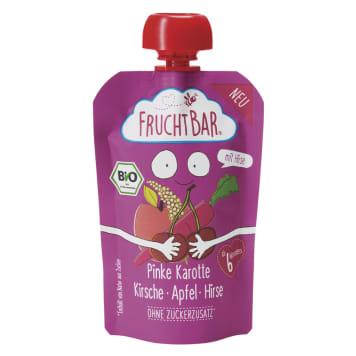 FRUCHTBAR Mousse of pink carrots, cherries, apple, millet BIO 100g