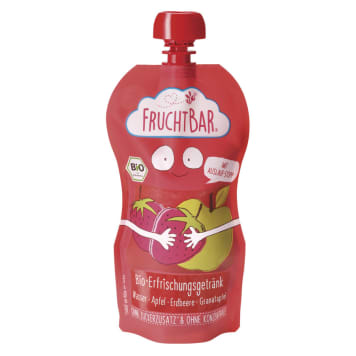 FRUCHTBAR Woda owocowa o smaku truskawka, jabłko BIO 250ml