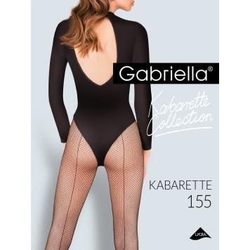 GABRIELLA Rajstopy Kabarette, rozmiar 1/2, kolor Nero 1szt