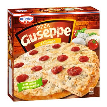 Pizza mrożona 4 sery – Dr. Oetker Guseppe to niepowtarzalna mieszanka serów, sosu i pysznego ciasta.