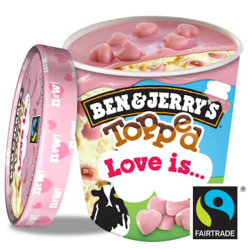 BEN&JERRY'S Ice cream with butter cream in pink chocolate sauce 470ml