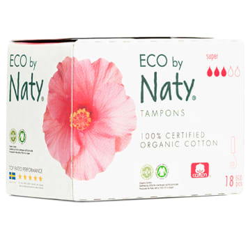 NATY Ecological tampons Super 18 pcs 1pc