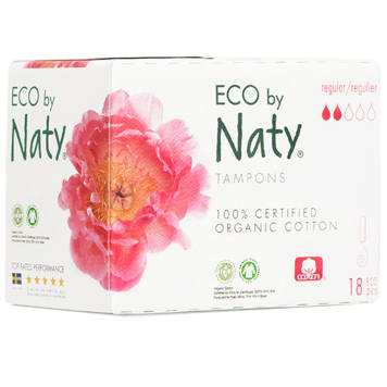 NATY Ecological tampons Regular 18 pcs 1 pc