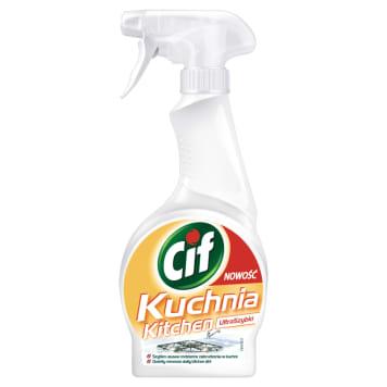 CIF - spray do czyszczenia. Usuwa tłuszcz i brud w kuchni.