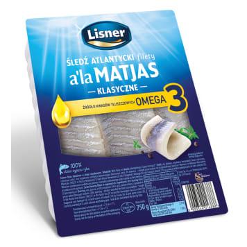 Lisner - Filety śledziowe w oleju a la Matjas 750g. Produkt najwyższej jakości.
