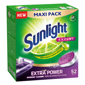SUNLIGHT Expert Extra Power Dishwasher tablets 52 pcs 910 g