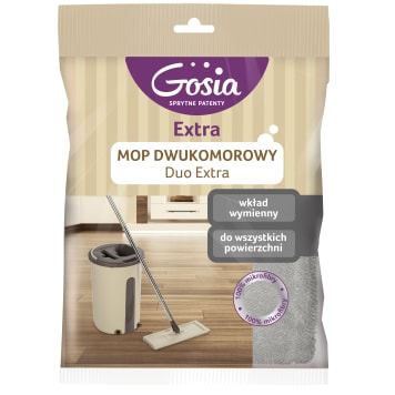 GOSIA Two-compartment slotted mop stock 1pc