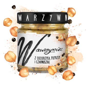 WAWRZYNIEC Vegetable paste with chickpea pepper and black cumin 180g