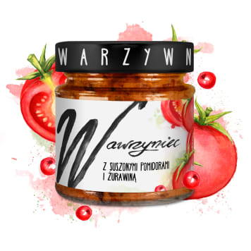 WAWRZYNIEC Vegetable paste with dried tomatoes and cranberries 180g
