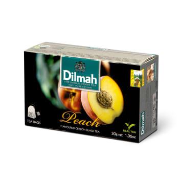 Herbata brzoskwiniowa - Dilmah. Idealne połączenie klasycznej czarnej herbaty z aromatem owoców.