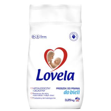 Lovela - Proszek do prania ubranek niemowlęcych (białe) nie zawiera szkodliwych substancji.