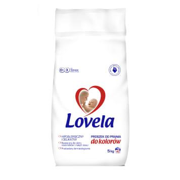 Proszek do prania - Lovela. Proszek bezpieczny dla delikatnej skóry niemowląt i dzieci.