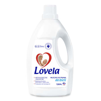 Mleczko do prania ubrań dla dzieci - Lovela. Zapewnia czystość i bezpieczeństwo.