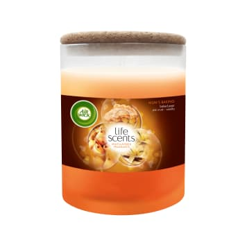 AIR WICK Life Scents Scented candle Homemade cake with fruit and crumble 185g