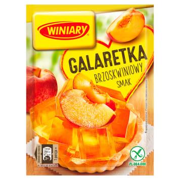 Winiary - Galaretka o smaku brzoskwiniowym. Prawdziwie owocowy smak.