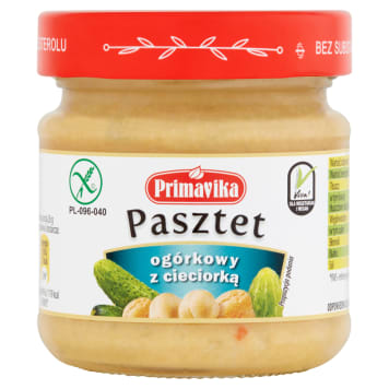 PRIMAVIKA Cucumber pate with chickpeas 160 g