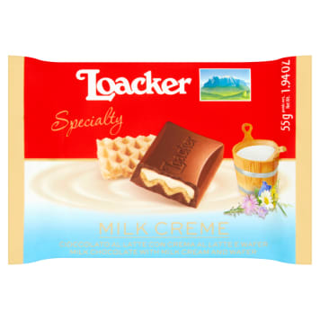 LOACKER Specialty Milk chocolate 55 g