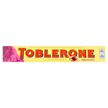 TOBLERONE Szwajcarska czekolada z rodzynkami i nugatem miodowo-migdałowym
