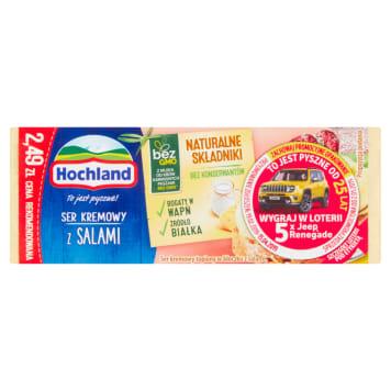 Hochland - Ser topiony w bloczku z salami 100g. Gwarancja pysznego smaku.