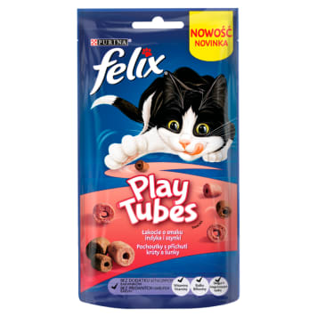 FELIX® Play Tubes A snack for a cat Turkey&Ham 50 g