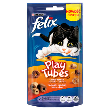 FELIX® Play Tubes Snack for the cat Chicken&Liver 50 g