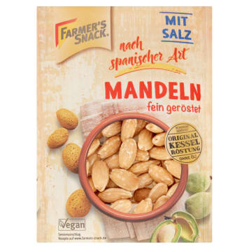 FARMER'S SNACK Almonds blanched roasted with sea salt 100g