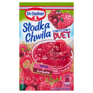 DR. OETKER Słodka Chwila Jelly with pieces of fruit Raspberry & Cranberry 32g