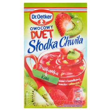 DR. OETKER Słodka Chwila Jelly with pieces of fruit Strawberry & Kiwi 32g
