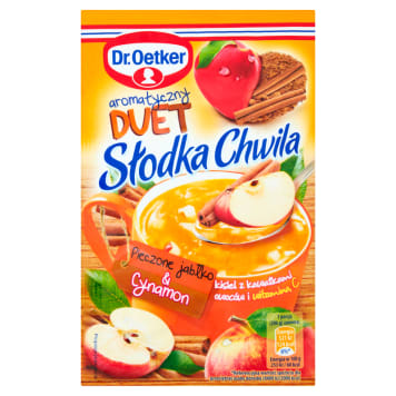 DR. OETKER Słodka Chwila Jelly with pieces of fruit Baked apple & Cinnamon 31 g