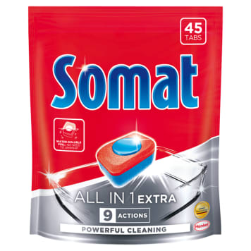 SOMAT All in 1 EXTRA Dishwasher tablets 45 pcs 819 g