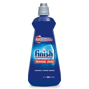 Płyn nabłyszczający do zmywarek – Finish . Płyn niepowodujący zacieków, ładnie pachnący