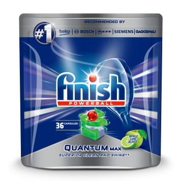 FINISH POWERBALL Quantum MAX Kapsułki do zmywarki Apple Lime Blast 36 szt. 1 szt