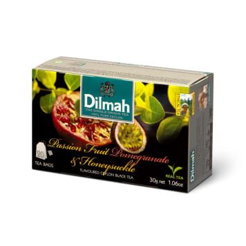 Herbata passiflora-granat-wiciokrzew - Dilmah. Unikatowe połączenie smaków w czarnej herbacie.