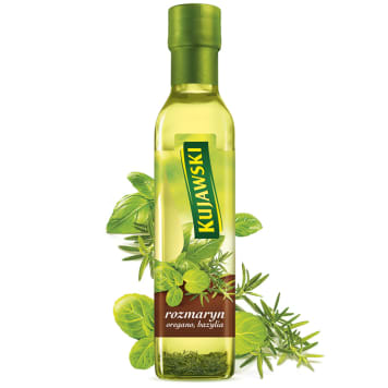 KUJAWSKI Ze smakiem Rapeseed oil with rosemary, oregano and basil 250 ml