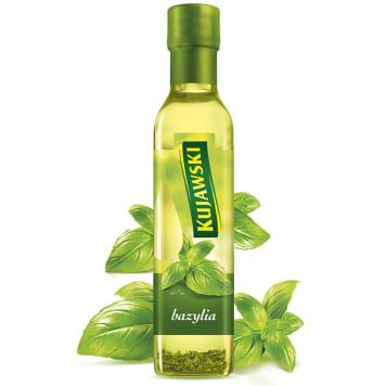 Olej rzepakowy z bazylią - Kujawski. Połączenie tradycyjnego oleju rzepakowego i aromatycznych ziół.