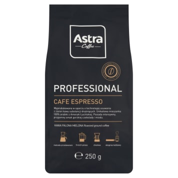 ASTRA Professional Cafe Espresso Roasted ground coffee 100% Arabica 250g