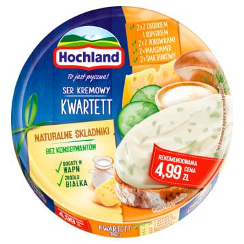 Hochland - Ser topiony w krążku Kwartett. Cztery pyszne smaki w jednym opakowaniu.