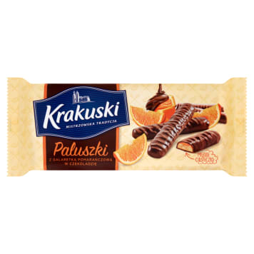 KRAKUSKI Cookies with orange jelly in chocolate 144g
