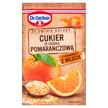 DR. OETKER Ze świata natury Sugar with orange peel from Italy 15 g